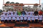 Batesville Pioneers Boys Varsity Soccer Spring 17-18 team photo.