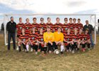 Lewis & Clark Tigers Boys Varsity Soccer Spring 17-18 team photo.