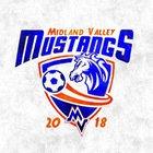 Midland Valley Mustangs Boys Varsity Soccer Spring 17-18 team photo.