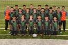 Van Buren Pointers Boys Varsity Soccer Spring 17-18 team photo.