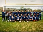 Naches Valley Rangers Boys Varsity Soccer Spring 17-18 team photo.