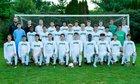 Dublin Coffman Shamrocks Boys Varsity Soccer Fall 18-19 team photo.