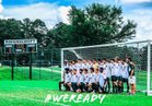 Ravenscroft Ravens Boys Varsity Soccer Fall 18-19 team photo.