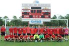 West Carteret Patriots Boys Varsity Soccer Fall 18-19 team photo.