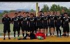Hayesville Yellowjackets Boys Varsity Soccer Fall 18-19 team photo.