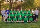 Los Alamos Hilltoppers Boys Varsity Soccer Fall 18-19 team photo.