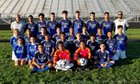 Fenton Bison Boys Varsity Soccer Fall 18-19 team photo.