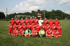 West Noble Chargers Boys Varsity Soccer Fall 18-19 team photo.