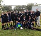 John Paul II Saints Boys Varsity Soccer Fall 18-19 team photo.