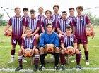 St. Joseph-Ogden Spartans Boys Varsity Soccer Fall 18-19 team photo.