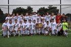 Blue Valley Southwest Timberwolves Boys Varsity Soccer Fall 18-19 team photo.