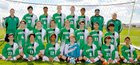 Moriarty Pintos Boys Varsity Soccer Fall 18-19 team photo.