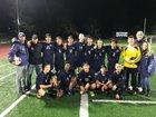 Puget Sound Adventist Sharks Boys Varsity Soccer Fall 18-19 team photo.