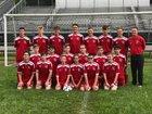 Hoover Huskies Boys Varsity Soccer Fall 18-19 team photo.