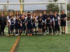 Seattle Lutheran Saints Boys Varsity Soccer Fall 18-19 team photo.