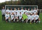 Lafayette Lancers Boys Varsity Soccer Fall 18-19 team photo.