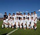 Sheridan Rams Boys Varsity Soccer Fall 18-19 team photo.