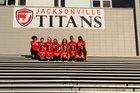 Jacksonville Titans Girls Varsity Soccer Spring 16-17 team photo.