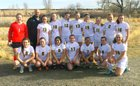 Prospect Ridge Academy Miners Girls Varsity Soccer Spring 16-17 team photo.