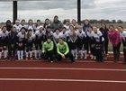 Olympia Spartans Girls Varsity Soccer Spring 16-17 team photo.