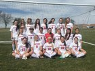 Platteview Trojans Girls Varsity Soccer Spring 16-17 team photo.