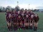 Gray Stone Day Knights Girls Varsity Soccer Spring 16-17 team photo.