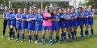 Oscoda Owls Girls Varsity Soccer Spring 16-17 team photo.