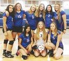 Hot Springs Tigers Girls Freshman Volleyball Fall 18-19 team photo.