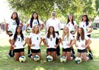 Ontario Christian Knights Girls Freshman Volleyball Fall 18-19 team photo.