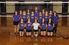 Lavaca Golden Arrows Girls Freshman Volleyball Fall 18-19 team photo.