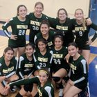 Holtville Vikings Girls Freshman Volleyball Fall 18-19 team photo.