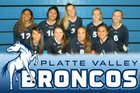 Platte Valley Broncos Girls Freshman Volleyball Fall 18-19 team photo.