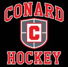 Conard Chieftains Boys Varsity Ice Hockey Winter 17-18 team photo.