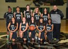 Youngker Roughriders Girls Freshman Basketball Winter 17-18 team photo.