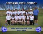 Socorro Warriors Girls Varsity Golf Spring 17-18 team photo.