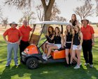 Artesia Bulldogs Girls Varsity Golf Spring 17-18 team photo.