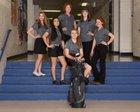 Silver Fighting Colts Girls Varsity Golf Spring 17-18 team photo.