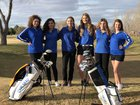 Carlsbad Cavemen Girls Varsity Golf Spring 17-18 team photo.