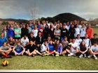 Santa Fe Prep Blue Griffins Boys Varsity Track & Field Spring 13-14 team photo.