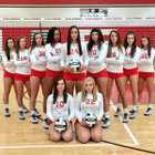 Elyria Pioneers Girls Varsity Volleyball Fall 16-17 team photo.