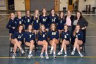 St. John Paul II Panthers Girls Varsity Volleyball Fall 16-17 team photo.