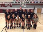 Heritage Christian Academy Chargers Girls Varsity Volleyball Fall 16-17 team photo.