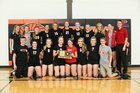 Hesston Swathers Girls Varsity Volleyball Fall 16-17 team photo.