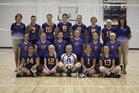 Hampton Hawks Girls Varsity Volleyball Fall 16-17 team photo.