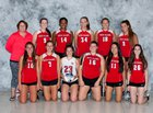 Jamesville-DeWitt Red Rams Girls Varsity Volleyball Fall 16-17 team photo.