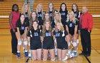 Page Patriots Girls Varsity Volleyball Fall 16-17 team photo.