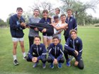 Santa Fe Prep Blue Griffins Boys Varsity Cross Country Fall 18-19 team photo.