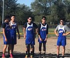 McCurdy Bobcats Boys Varsity Cross Country Fall 18-19 team photo.
