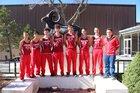 Cimarron Rams Boys Varsity Cross Country Fall 18-19 team photo.