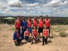 Los Lunas Tigers Boys Varsity Cross Country Fall 18-19 team photo.